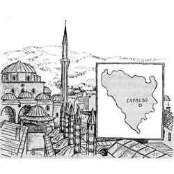 Босния (Босния и Герцеговина) — страна, картинка чёрно-белая