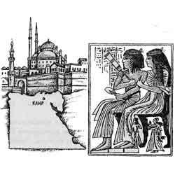 Египет — страна, картинка чёрно-белая