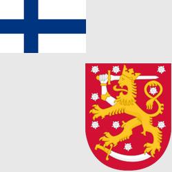 Финляндия — флаг и герб страны, картинка цветная