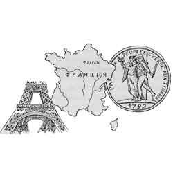 Франция — страна, картинка чёрно-белая