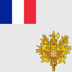 Франция — флаг и герб страны, картинка цветная