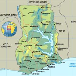 Гана — страна, картинка цветная