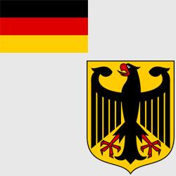 Германия — флаг и герб страны, картинка цветная