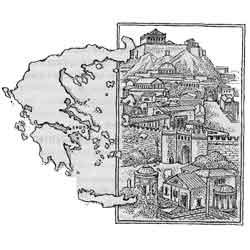 Греция — страна, картинка чёрно-белая