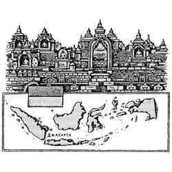 Индонезия — страна, картинка чёрно-белая