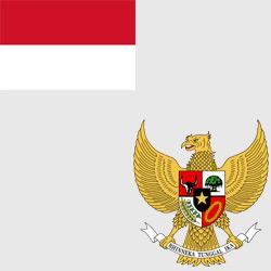 Индонезия — флаг и герб страны, картинка цветная