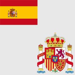 Испания — флаг и герб страны, картинка цветная