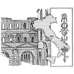 Италия — страна, картинка чёрно-белая