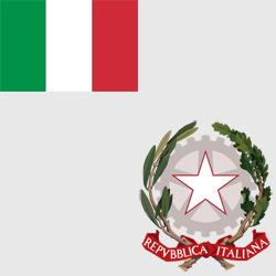 Италия — флаг и герб страны, картинка цветная