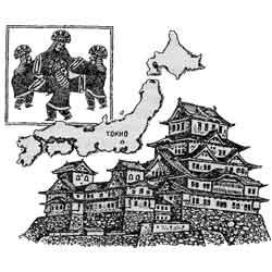 Япония — страна, картинка чёрно-белая