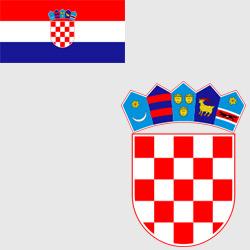 Хорватия — флаг и герб страны, картинка цветная