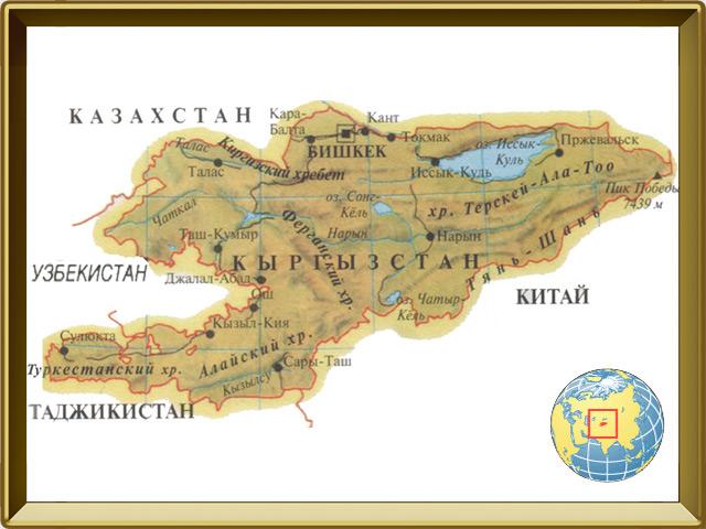 Киргизия (Кыргызстан) — страна, фото в рамке №1