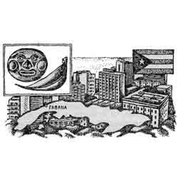 Куба — страна, картинка чёрно-белая