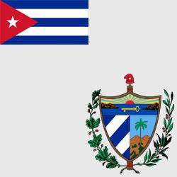Куба — флаг и герб страны, картинка цветная