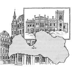 Латвия — страна, картинка чёрно-белая