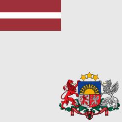 Латвия — флаг и герб страны, картинка цветная