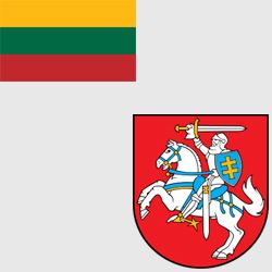 Литва — флаг и герб страны, картинка цветная