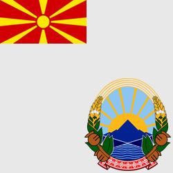 Македония — флаг и герб страны, картинка цветная