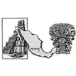 Мексика — страна, картинка чёрно-белая