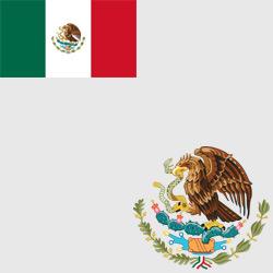 Мексика — флаг и герб страны, картинка цветная