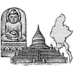 Мьянма — страна, картинка чёрно-белая