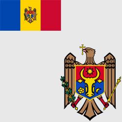 Молдавия (Молдова) — флаг и герб страны, картинка цветная