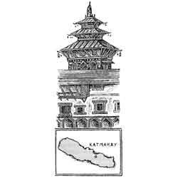 Непал — страна, картинка чёрно-белая