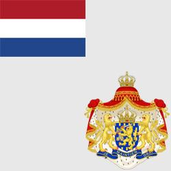 Нидерланды — флаг и герб страны, картинка цветная