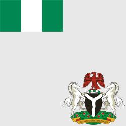 Нигерия — флаг и герб страны, картинка цветная