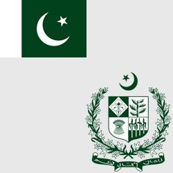 Пакистан — флаг и герб страны, картинка цветная