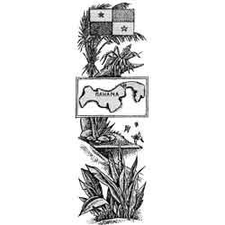 Панама — страна, картинка чёрно-белая