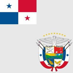 Панама — флаг и герб страны, картинка цветная