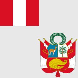 Перу — флаг и герб страны, картинка цветная