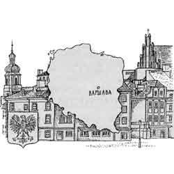 Польша — страна, картинка чёрно-белая