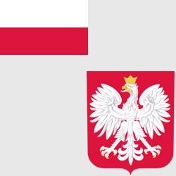 Польша — флаг и герб страны, картинка цветная