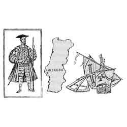 Португалия — страна, картинка чёрно-белая
