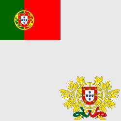 Португалия — флаг и герб страны, картинка цветная