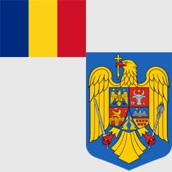 Румыния — флаг и герб страны, картинка цветная