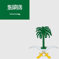 Саудовская Аравия — флаг и герб страны, картинка цветная