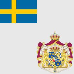 Швеция — флаг и герб страны, картинка цветная