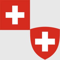 Швейцария — флаг и герб страны, картинка цветная