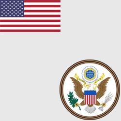 США — флаг и герб страны, картинка цветная
