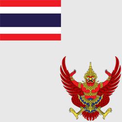 Таиланд — флаг и герб страны, картинка цветная