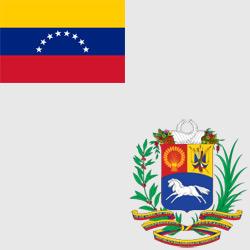 Венесуэла — флаг и герб страны, картинка цветная