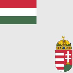 Венгрия — флаг и герб страны, картинка цветная