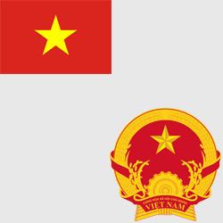 Вьетнам — флаг и герб страны, картинка цветная
